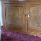 Old pine school type cupboard