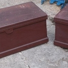 Pair Victorian painted blanket boxes